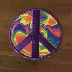 Hot Topic Tie Dye Peace Sign Patch